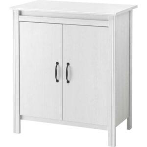 БРУСАЛИ Шкаф с дверями белый 80x93 см - Артикул: 903.796.29