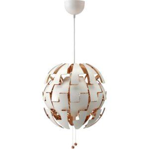 ИКЕА ПС 2014 Подвесной светильник белый/медный - Артикул: 203.609.11