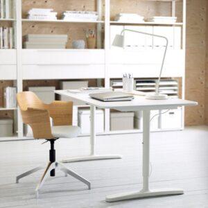 БЕКАНТ Письменный стол белый 160x80 см - Артикул: 192.786.44