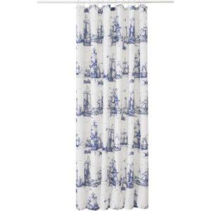 АГГЕРСУНД Штора для ванной синий/белый 180x200 см - Артикул: 803.801.81