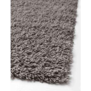 ХАМПЭН Ковер, длинный ворс серый 80x80 см - Артикул: 803.708.51