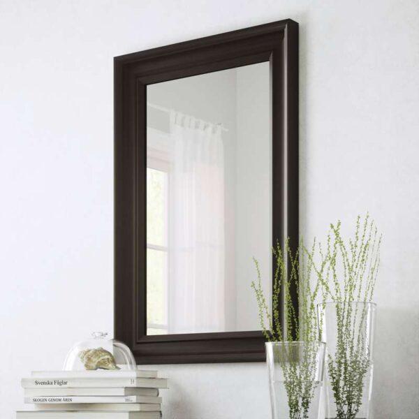 ХЕМНЭС Зеркало черно-коричневый 60x90 см - Артикул: 203.692.09