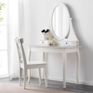ХЕМНЭС Туалетный столик с зркл белый 100x50 см - Артикул: 003.688.66