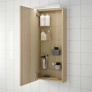 ГОДМОРГОН Навесной шкаф с 1 дверцей под беленый дуб 40x14x96 см - Артикул: 903.803.12