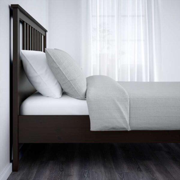 ХЕМНЭС Каркас кровати, черно-коричневый 160x200 см. Артикул: 192.108.14