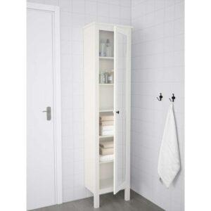 ХЕМНЭС Высокий шкаф с зеркальной дверцей белый 49x31x200 см - Артикул: 803.690.13