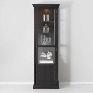 МАЛЬШЁ Шкаф-витрина черная морилка 60x186 см - Артикул: 103.833.81