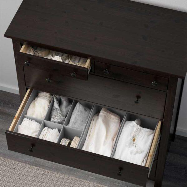 ХЕМНЭС Комод с 6 ящиками черно-коричневый 108x131 см - Артикул: 003.684.37