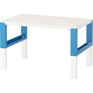 ПОЛЬ Письменный стол белый/синий 96x58 см - Артикул: 592.512.61