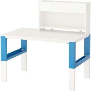 ПОЛЬ Стол с дополнительным модулем белый/синий 96x58 см - Артикул: 892.512.69