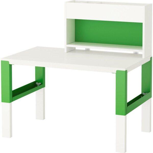 ПОЛЬ Стол с дополнительным модулем белый/зеленый 96x58 см - Артикул: 392.784.12