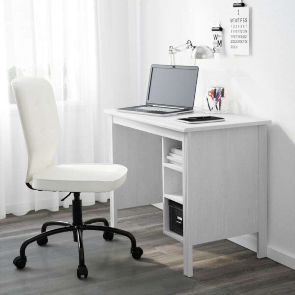 БРУСАЛИ Письменный стол белый 90x52 см - Артикул: 103.796.71