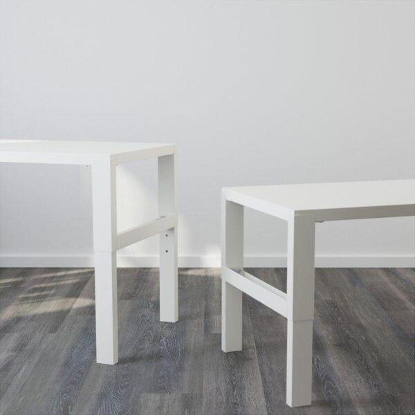 ПОЛЬ Стол с дополнительным модулем белый 96x58 см - Артикул: 592.784.25