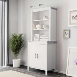 БРУСАЛИ Высокий шкаф с дверцей белый 80x190 см - Артикул: 703.796.30