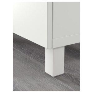 БЕСТО / ЭКЕТ Комбинация для ТВ, белый светло-серый/темно-серый/золотисто-коричневый 210x40x220 см - Артикул: 592.868.40