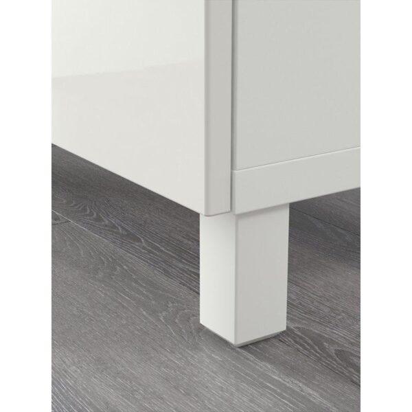 БЕСТО Комбинация для хранения с ящиками белый/Сельсвикен глянцевый/белый 180x40x74 см | Артикул: 592.494.28