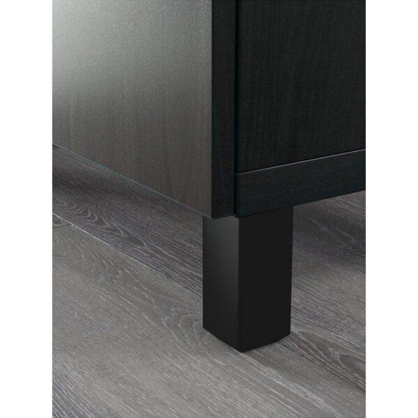 БЕСТО Тумба д/ТВ с ящиками Лаппвикен черно-коричневый 180x40x48 см | Артикул: 892.503.02