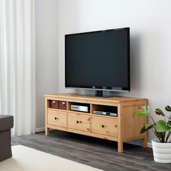 ХЕМНЭС Тумба под ТВ светло-коричневый 148x47 см | Артикул: 403.883.63