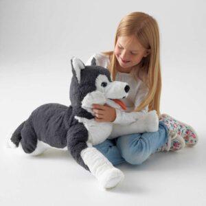 ЛИВЛИГ Мягкая игрушка собака хаски/сибирский хаски 57 см - Артикул: 303.660.45