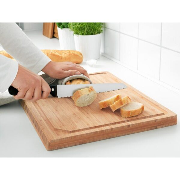 ВАРДАГЕН Нож для хлеба темно-серый 23 см - Артикул: 103.834.37