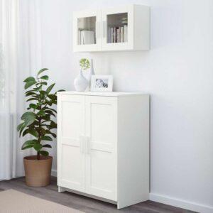 БРИМНЭС Шкаф с дверями белый 78x95 см - Артикул: 003.842.44