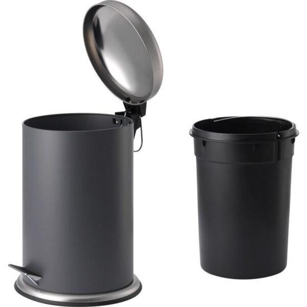 МЬЁСА Ведро с откидной крышкой темно-серый 12 л - Артикул: 604.228.46