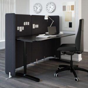 БЕКАНТ Экран д/письменного стола серый 120 см - Артикул: 503.919.54