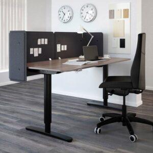 БЕКАНТ Экран д/письменного стола серый 55 см - Артикул: 703.919.53