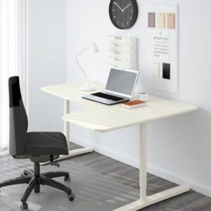 БЕКАНТ Углов письм стол правый белый 160x110 см - Артикул: 492.784.59