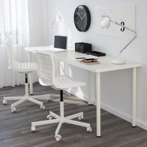ЛИННМОН / АДИЛЬС Стол белый 200x60 см - Артикул: 492.795.95