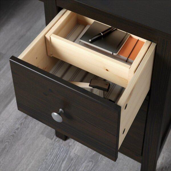 ХЕМНЭС Письменный стол черно-коричневый 155x65 см - Артикул: 903.847.96