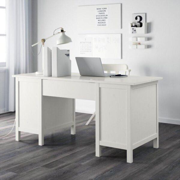 ХЕМНЭС Письменный стол белая морилка 155x65 см   Артикул: 703.847.97
