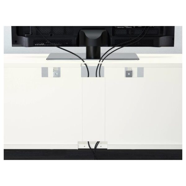 БЕСТО / ЭКЕТ Комбинация для ТВ, белый светло-серый/темно-серый/золотисто-коричневый 210x40x220 см - Артикул: 992.868.43