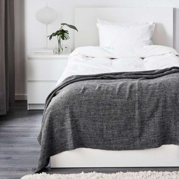 ГУРЛИ Плед серый/черный 120x180 см - Артикул: 203.698.98
