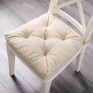 МАЛИНДА Подушка на стул светло-бежевый 40/35x38x7 см - Артикул: 903.699.27