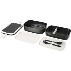ФЛОТТИГ Контейнер для завтрака черный/белый 22x13x12 см - Артикул: 903.822.88