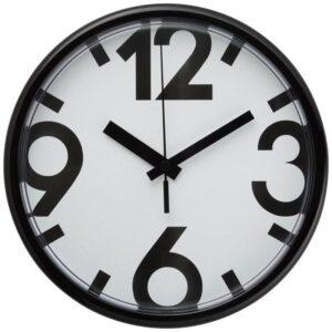 ЮККЕ Настенные часы белый/черный 25 см - Артикул: 802.984.69