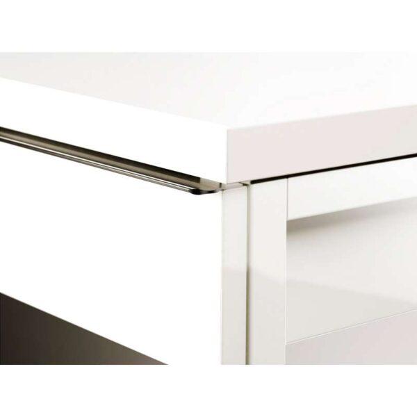 БЕСТО БУРС Письменный стол глянцевый белый 120x40 см - Артикул: 703.847.83