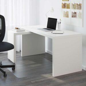 МАЛЬМ Письменный стол с выдвижной панелью белый 151x65 см - Артикул: 803.848.72