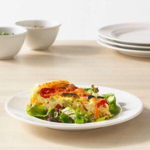 ВАРДАГЕН Тарелка десертная белый с оттенком 21 см - Артикул: 403.724.18