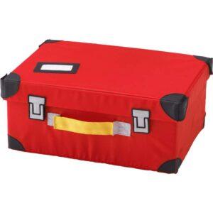 ФЛЮТТБАР Чемодан для игрушек красный 35x25x15 см - Артикул: 403.659.84