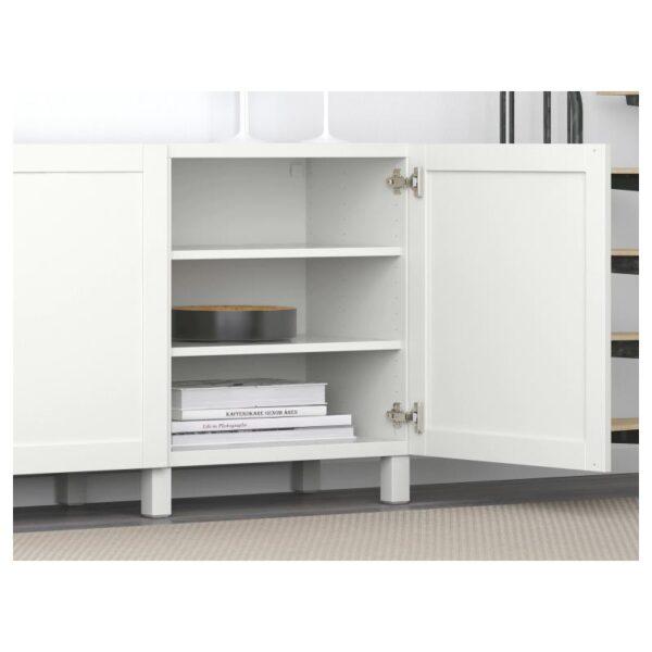 БЕСТО Комбинация для хранения с дверцами, Ханвикен белый 180x40x74 см - Артикул: 291.397.42