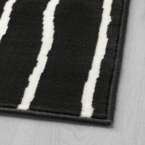 ГЁРЛЁСЕ Ковер, короткий ворс черный/белый 133x195 см - Артикул: 503.708.43