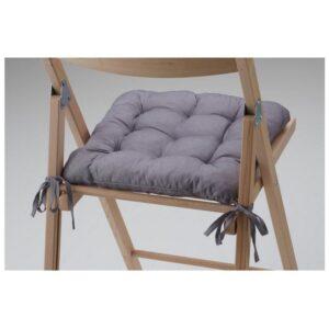 ХЭЛЛЬВИ Подушка на стул серый 40x38x5.0 см - Артикул: 403.064.71