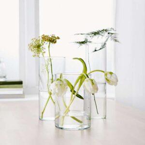 ЦИЛИНДР Набор ваз 3 штуки прозрачное стекло - Артикул: 503.775.14