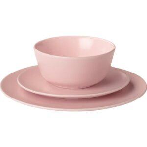 ДИНЕРА Сервиз 18 предметов светло-розовый - Артикул: 704.114.80