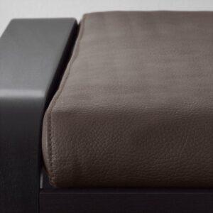 ПОЭНГ Табурет для ног черно-коричневый/Глосе темно-коричневый - Артикул: 592.816.87
