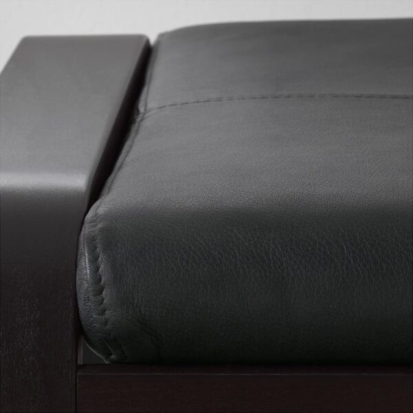 ПОЭНГ Табурет для ног черно-коричневый/Смидиг черный - Артикул: 092.515.84