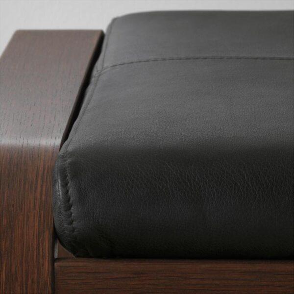 ПОЭНГ Табурет для ног коричневый/Смидиг черный - Артикул: 792.515.85