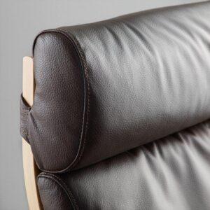 ПОЭНГ Кресло березовый шпон/Глосе темно-коричневый - Артикул: 792.514.63